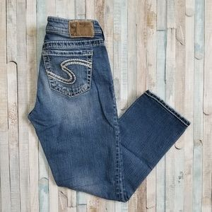 Silver Natsuki Capri Jeans